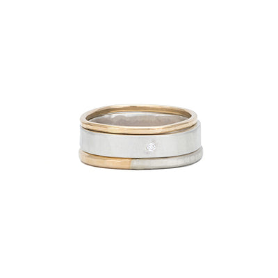 R49yg.RND-1.5 3-Stack Diamond Round Stack Ring in Yellow Gold