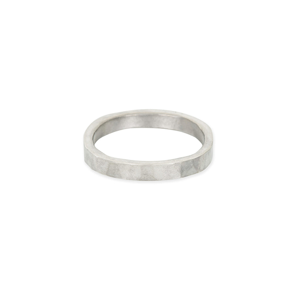 3mm Wide Black or Silver Round Ring