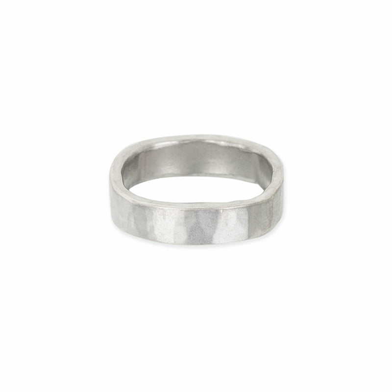 5mm Wide Black or Silver Round Ring