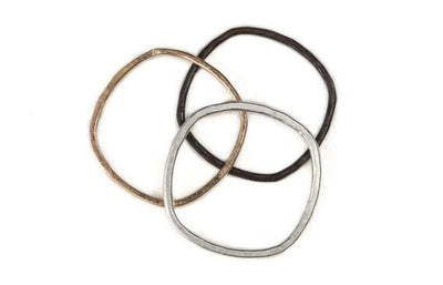 Thin Individual Round Stacking Rings from Colleen Mauer Designs