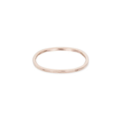 TNGRS.rg Thin Individual Round Stacking Ring in Rose Gold