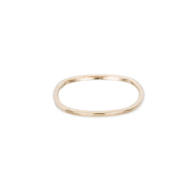 TNGRS Thin Individual Round Stacking Ring in Yellow Gold