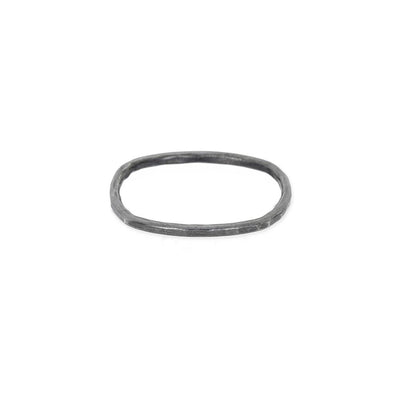 TNORS Thin Individual Round Stacking Ring in Black Oxidized Silver