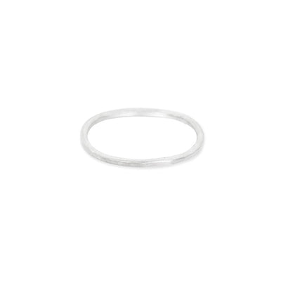 TNSRS Thin Individual Round Stacking Ring in Sterling Silver