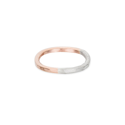 TTRS.rg Thick Rose Gold & Silver Individual Round Stacking Ring