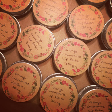 Sweet Orange and Chamomile Lip Balm