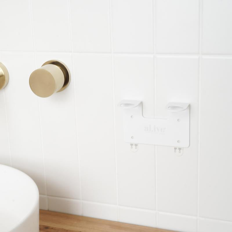 White Double Wall Holder