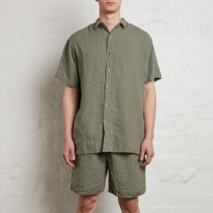 Mens Short Sleeve Shirt - Khaki