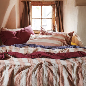 Blush Stripe Duvet Cover