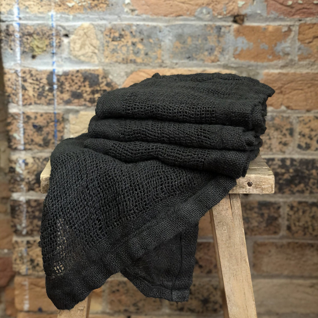 Ella Hand Towel - Charcoal