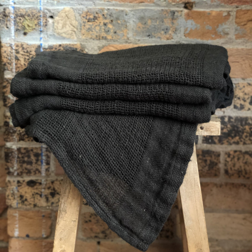 Ella Bath Towel - Charcoal