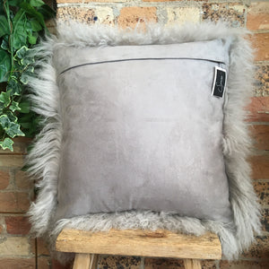 Light Grey Mongolian Sheep Cushion