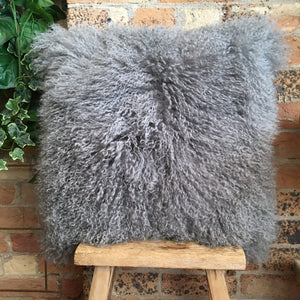 Dark Grey Mongolian Sheep Cushion