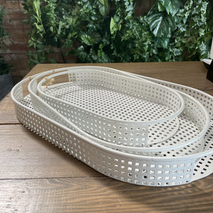 White Serving Trays
