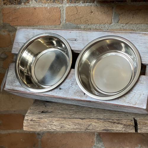 Reclaimed Pet Bowl - Large Double