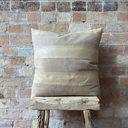 Leather Suede Cushion