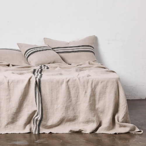 Heavy Linen Bed Cover