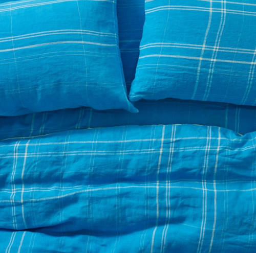 Linen Blue Grotto Bedding