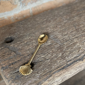 Brass Teaspoon - Shell