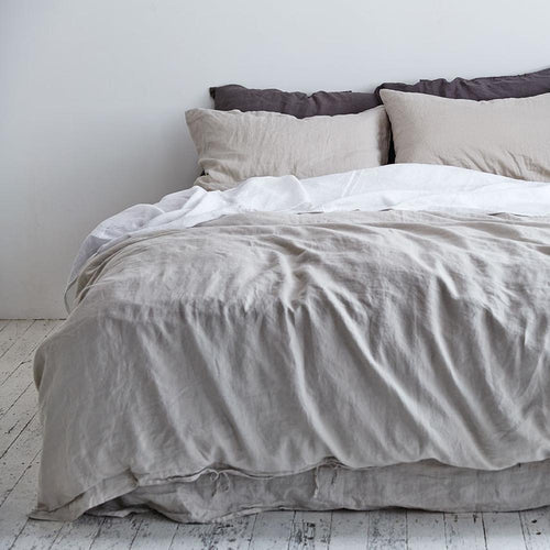 Dove Grey Duvet Cover