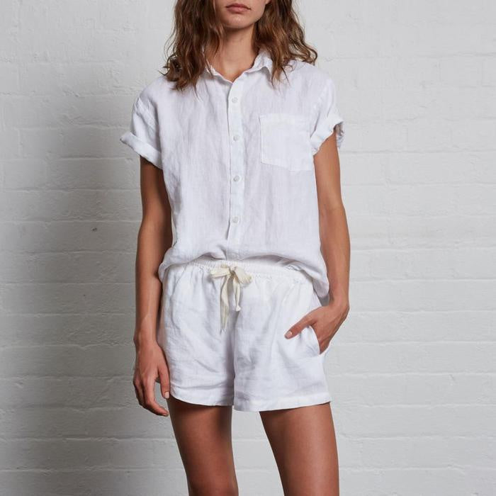 Womens Short Sleeve Shirt - White