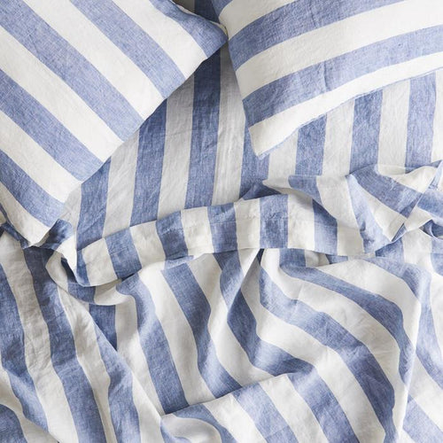 Fitted Sheet - Chambray Stripe