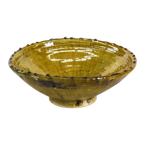Tamegroute Ochre Serving Bowl