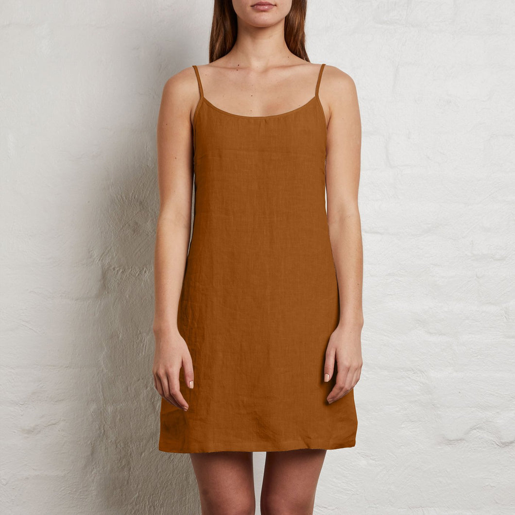 Tie Back Slip Dress - Clay
