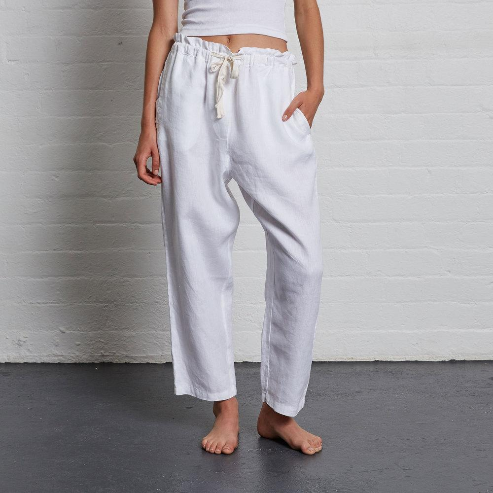 Womens Pants - White