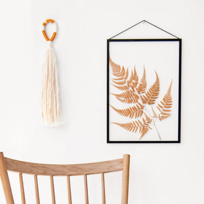 Tassel Wall Hanging in White and 2-Color Combo
