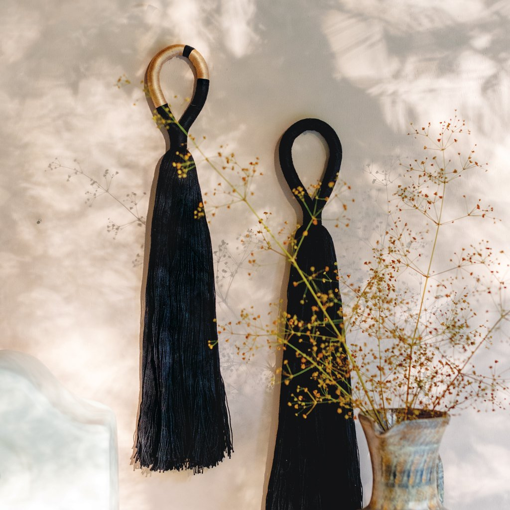 Tassel Wall Hanging in Black and 2-Color Combo