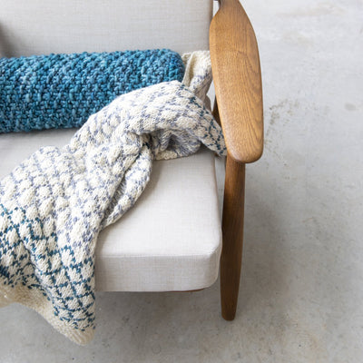 Knitting Kit: Diamond Throw