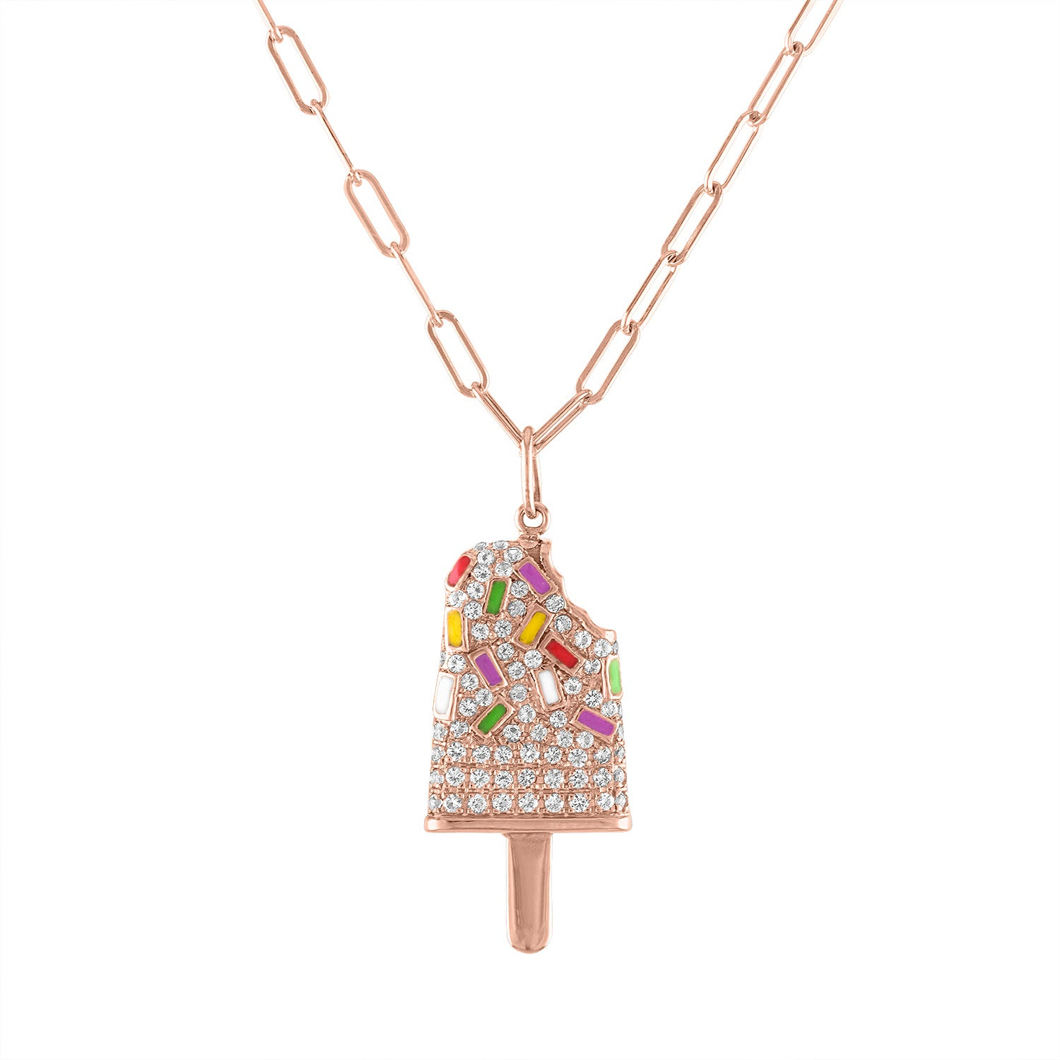 Pave Popsicle Necklace