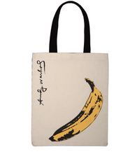 Load image into Gallery viewer, Andy Warhol Banana Tote Bag - Adele Gilani Art Gallery
