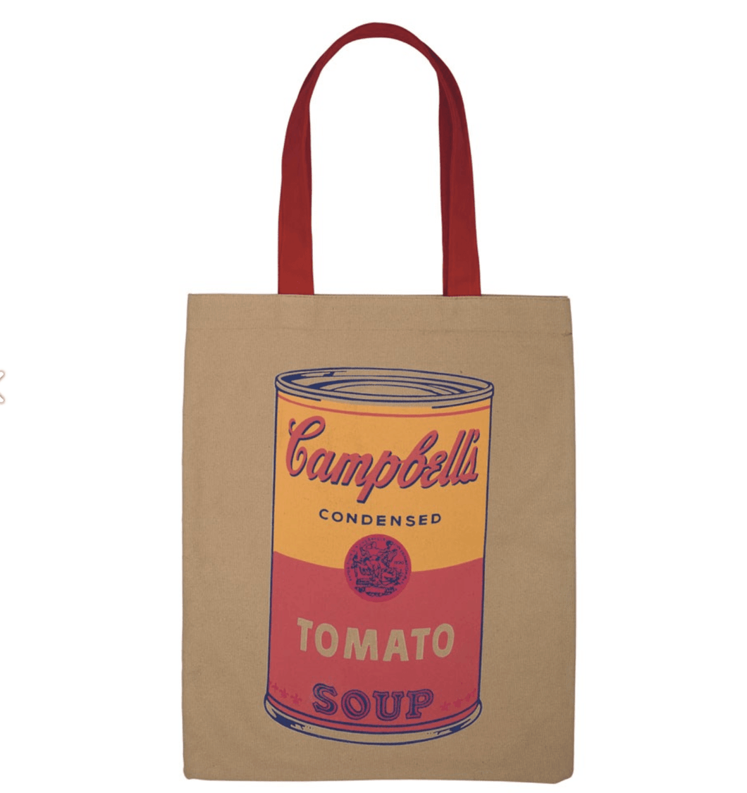 Andy Warhol Campbell's Soup Tote Bag - Adele Gilani Art Gallery