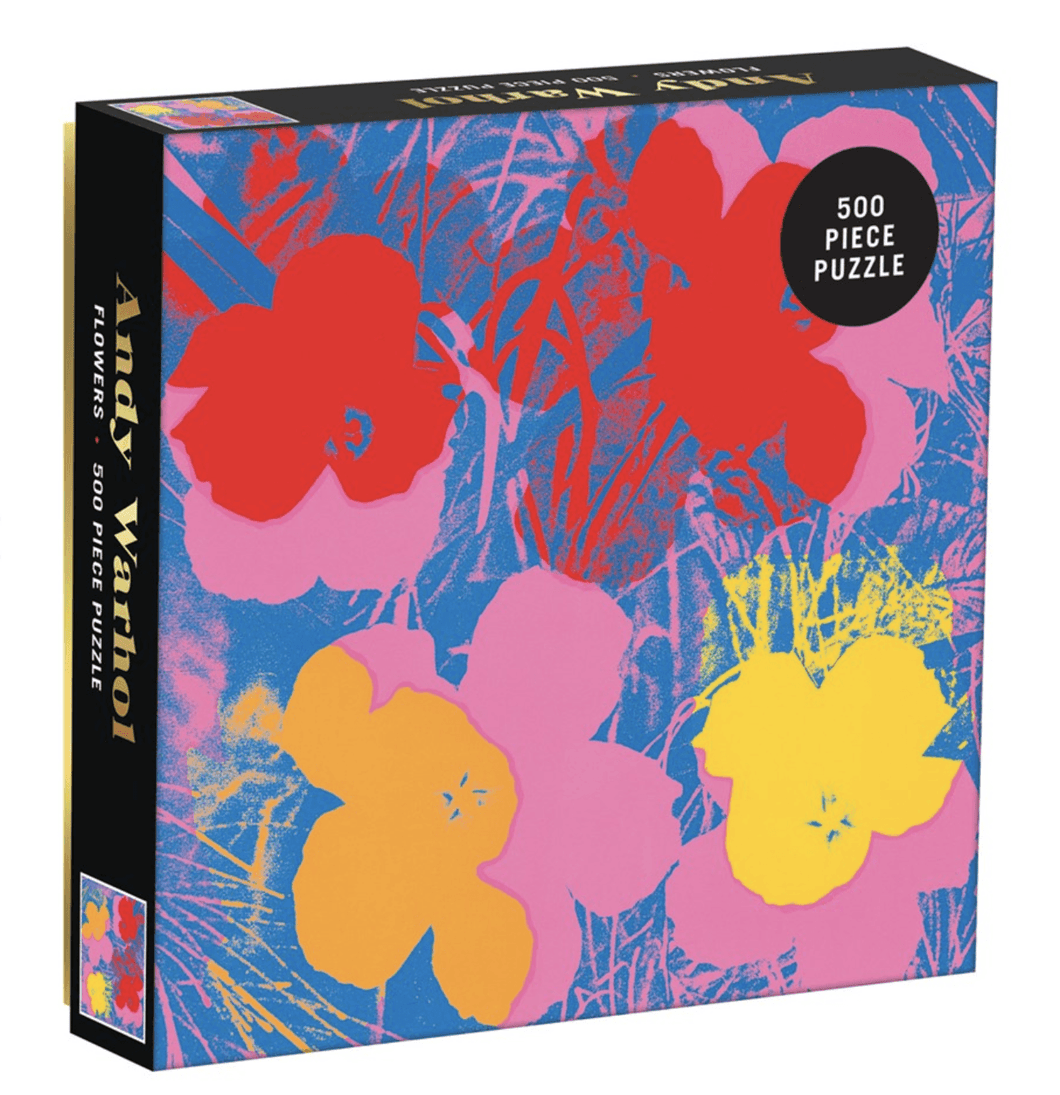 Andy Warhol Flowers 500 Piece Puzzle - Adele Gilani Art Gallery