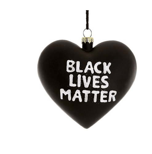 Black Lives Matter Heart Ornament - Adele Gilani Art Gallery