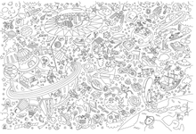Load image into Gallery viewer, Cosmos Giant Coloring Poster - Adele Gilani Art Gallery