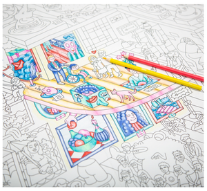 Crazy Museum Giant Coloring Poster - Adele Gilani Art Gallery