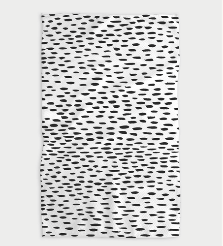 Dot Dash Kitchen Tea Towel - Adele Gilani Art Gallery