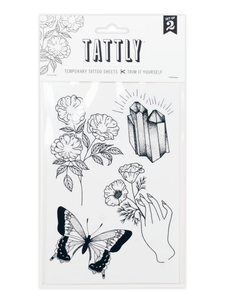 Earthly Gems Tattoo Sheet - Adele Gilani Art Gallery