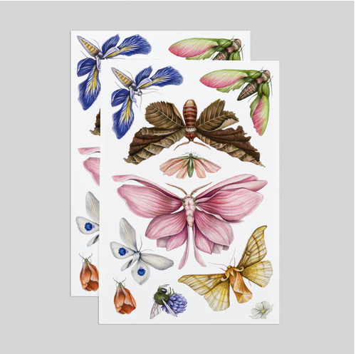 Floraflies Tattoo Sheets - Adele Gilani Art Gallery