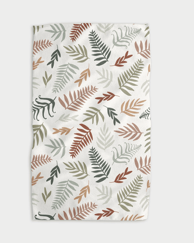 Forest Floor Ferns Kitchen Tea Towel - Adele Gilani Art Gallery