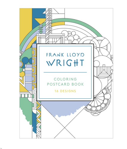 Frank Lloyd Wright Coloring Postcard - Adele Gilani Art Gallery