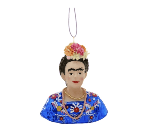 Frida Kahlo Christmas Ornament - Adele Gilani Art Gallery