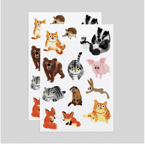 Furry Friends Tattoo Sheets - Adele Gilani Art Gallery
