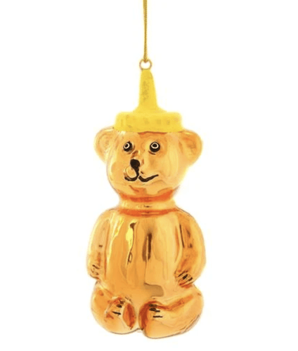 Honey Bear Holiday Ornament - Adele Gilani Art Gallery