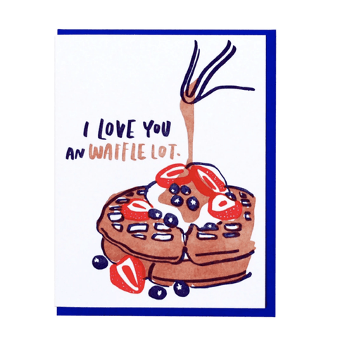I Love You a Waffle Lot Card - Adele Gilani Art Gallery