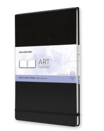 Moleskine Art Plus Watercolour Album Black Hardcover - Adele Gilani Art Gallery