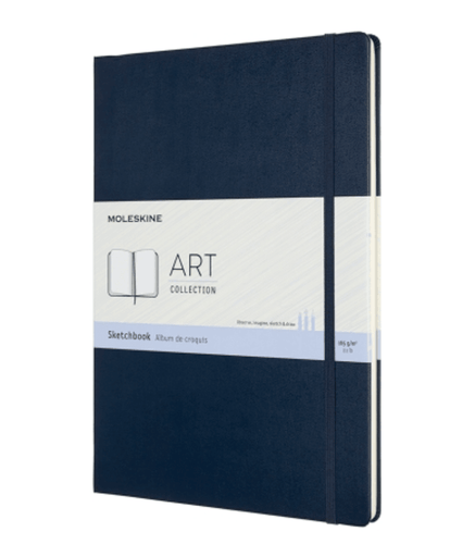 Moleskine Art Sketchbook Sapphire Blue Hardcover - Adele Gilani Art Gallery